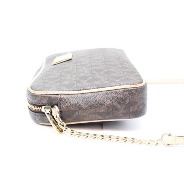 MICHAEL KORS Brown Canvas Crossbody Bag 26228 d