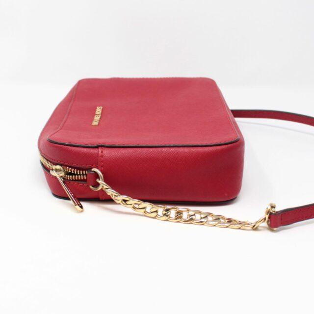 MICHAEL KORS Red Leather Crossbody Bag 26227 b
