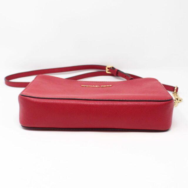 MICHAEL KORS Red Leather Crossbody Bag 26227 c