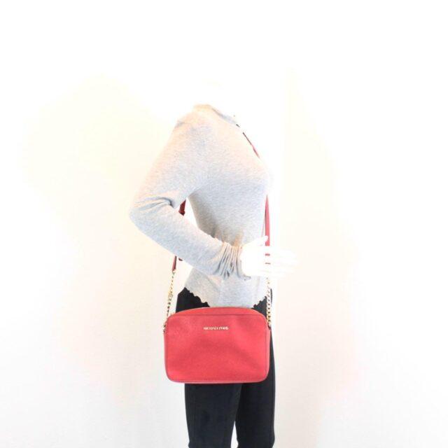 MICHAEL KORS Red Leather Crossbody Bag 26227 i