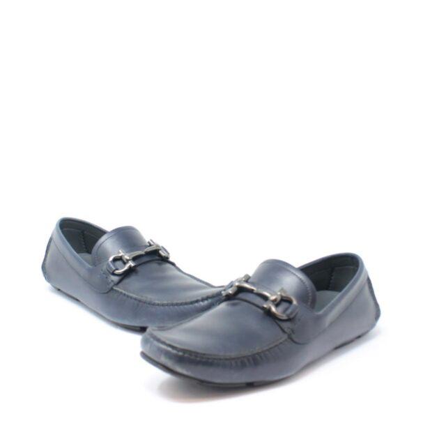 SALVATORE FERRAGAMO Navy Blue Man Loafers US 6 EU 36 18803 b