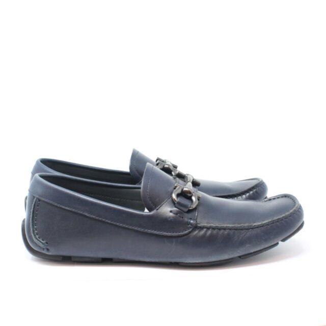 SALVATORE FERRAGAMO Navy Blue Man Loafers US 6 EU 36 18803 d