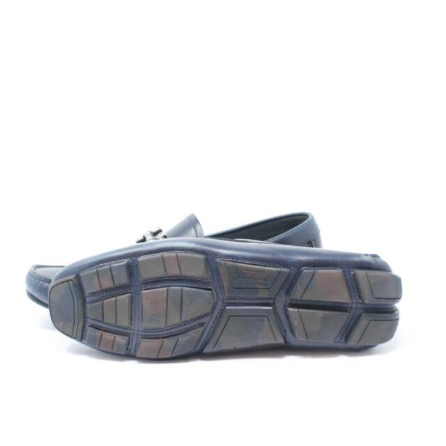 SALVATORE FERRAGAMO Navy Blue Man Loafers US 6 EU 36 18803 e