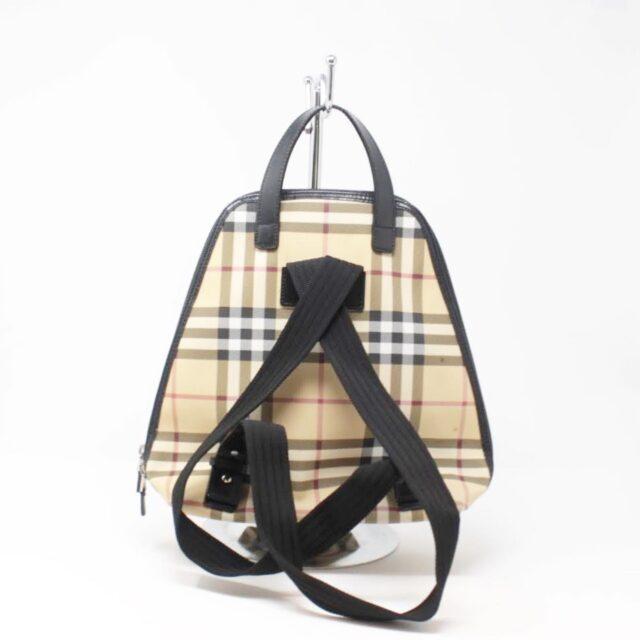 BURBERRY Black Check Small Backpack 26460 b