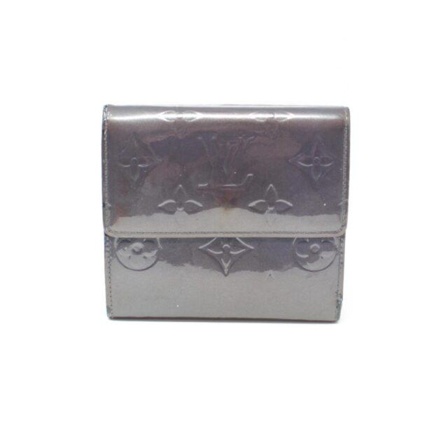 LOUIS VUITTON Gray Vernis Cartes Wallet 26377 b