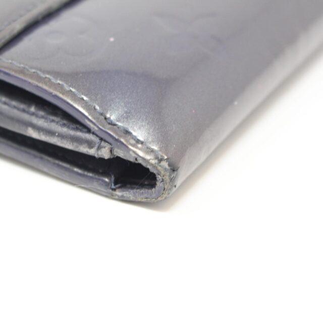 LOUIS VUITTON Gray Vernis Cartes Wallet 26377 i