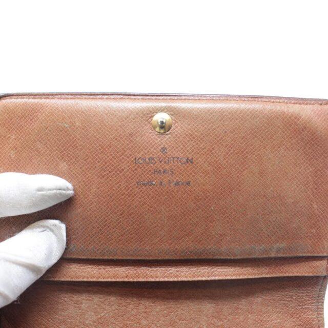 LOUIS VUITTON Monogram Canvas Monnaie Tresor Wallet 26351 h