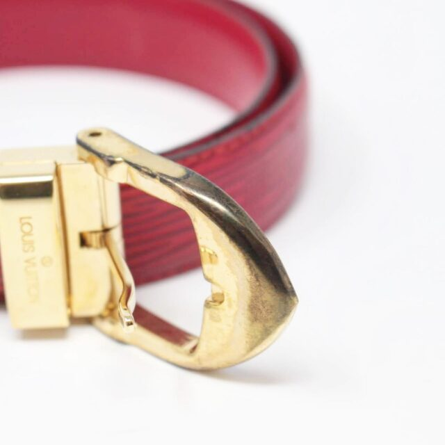 LOUIS VUITTON Red Epi Leather Belt 26352 b