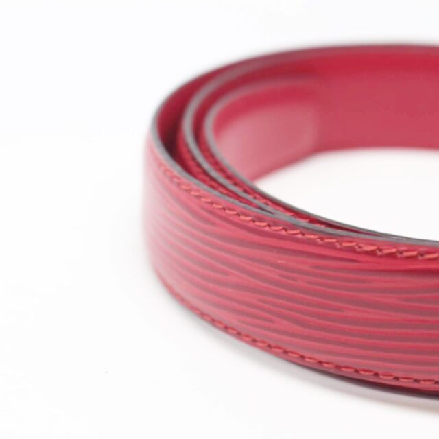 LOUIS VUITTON Red Epi Leather Belt 26352 e