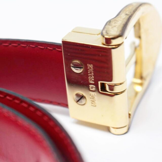 LOUIS VUITTON Red Epi Leather Belt 26352 f