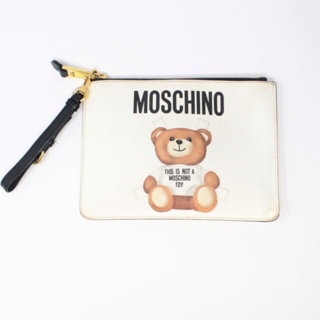MOSCHINO White Bear Pouch 26405 A