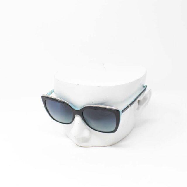 TIFFANY CO. Black Rectangular Sunglasses 26493 A