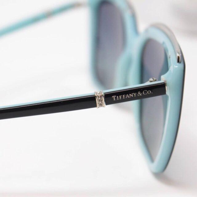TIFFANY CO. Black Rectangular Sunglasses 26493 g
