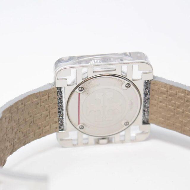 TORY BURCH Silver Glittery Leather Watch 26499 b