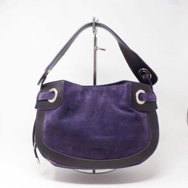 BALLY Purple Suede Handbag 27214 A