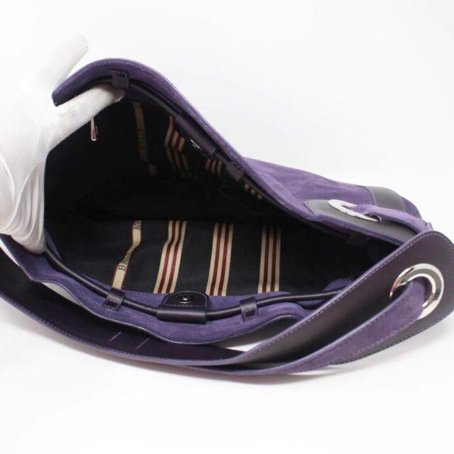 BALLY Purple Suede Handbag 27214 i