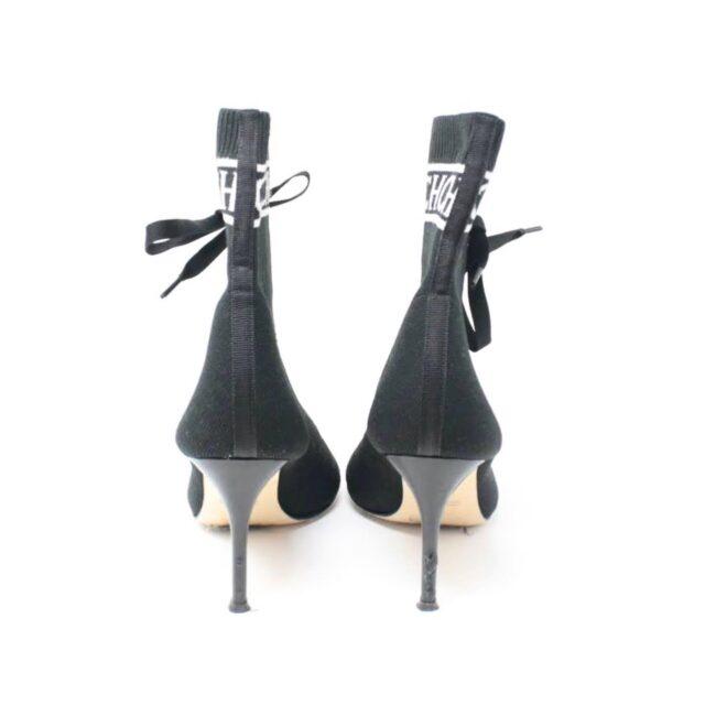 CAROLINA HERRERA Black Sock Ankle Open Toe Boots US 7 EU 37 TMP 001 c