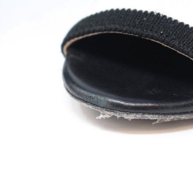 CAROLINA HERRERA Black Sock Ankle Open Toe Boots US 7 EU 37 TMP 001 f