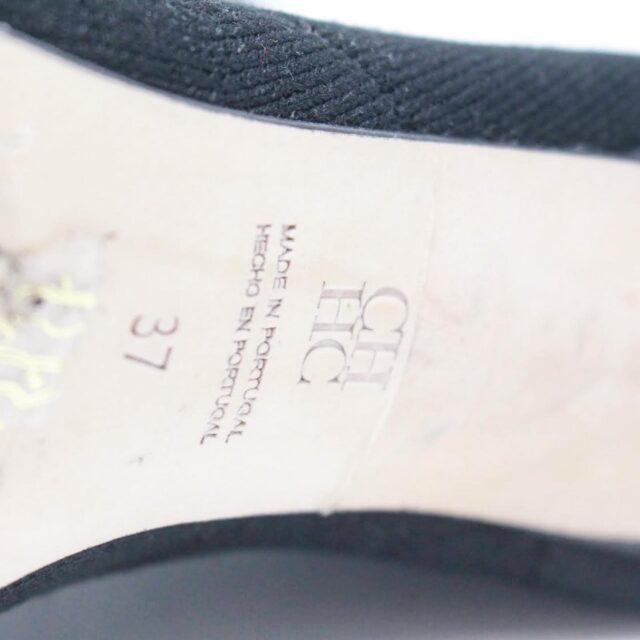 CAROLINA HERRERA Black Sock Ankle Open Toe Boots US 7 EU 37 TMP 001 h