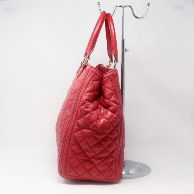 CAROLINA HERRERA Red Leather Logo Tote 27294 b