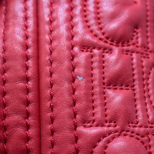 CAROLINA HERRERA Red Leather Logo Tote 27294 f