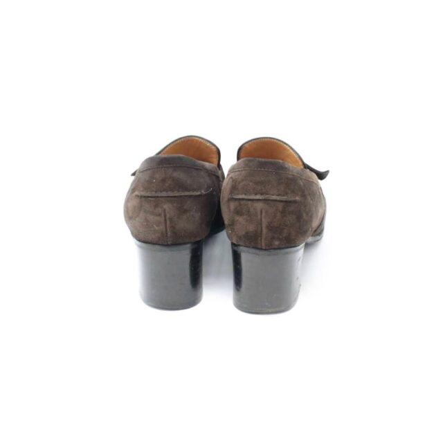 HERMES Brown Suede Loafers US 8.5 EU 38.5 26845 c
