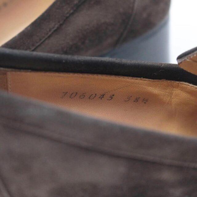 HERMES Brown Suede Loafers US 8.5 EU 38.5 26845 g