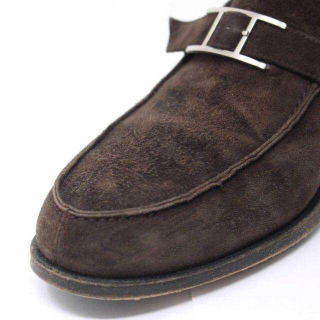 HERMES Brown Suede Loafers US 8.5 EU 38.5 26845 i