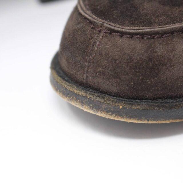 HERMES Brown Suede Loafers US 8.5 EU 38.5 26845 j