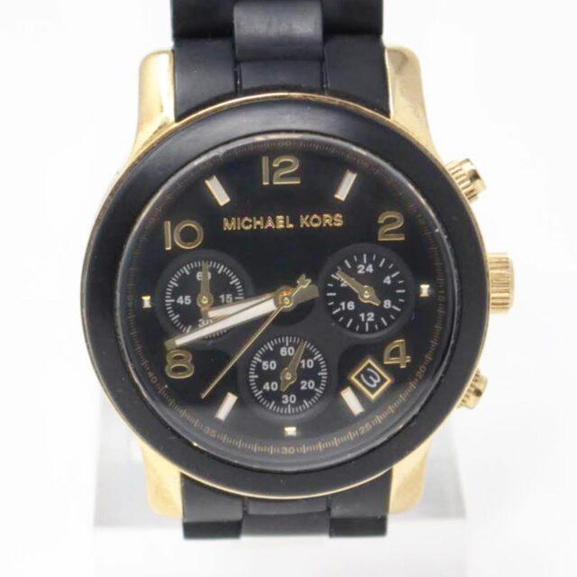 MICHAEL KORS Black Gold Watch 26517 A