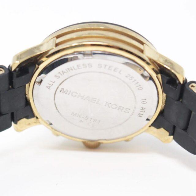 MICHAEL KORS Black Gold Watch 26517 c