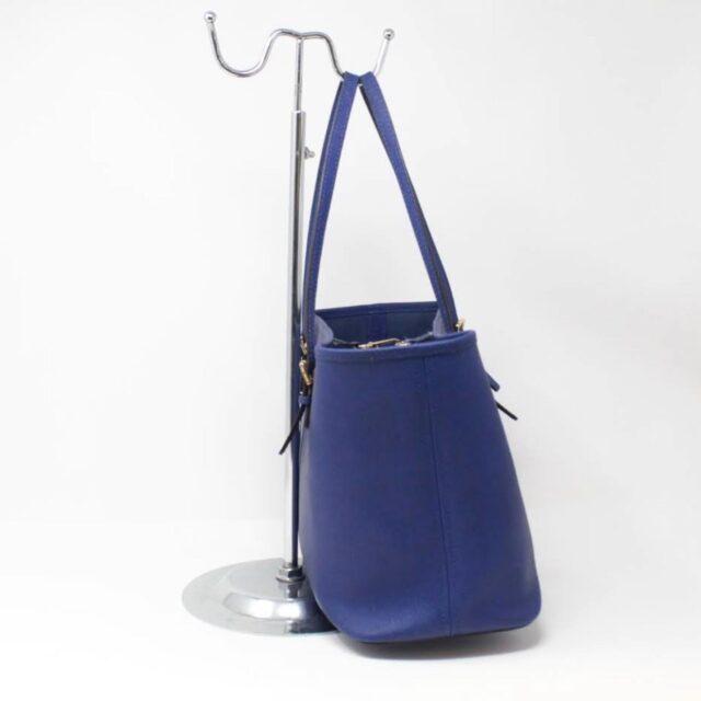 MICHAEL KORS Blue Saffiano Leather Tote 27018 b