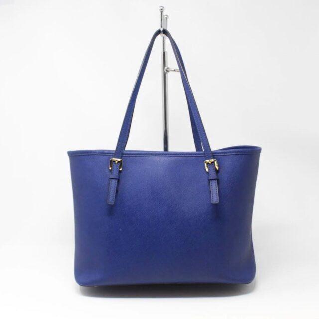 MICHAEL KORS Blue Saffiano Leather Tote 27018 c