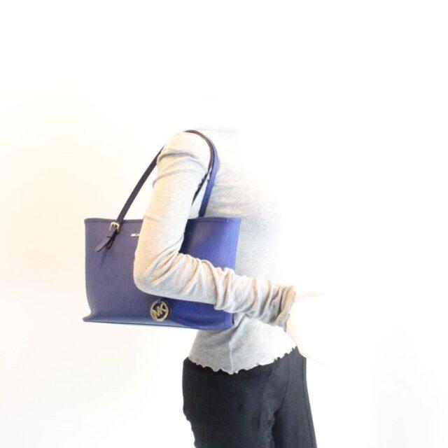 MICHAEL KORS Blue Saffiano Leather Tote 27018 i