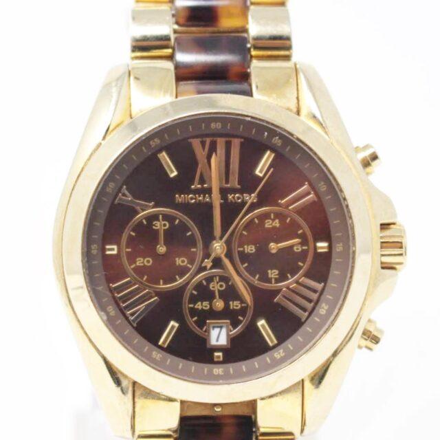 MICHAEL KORS Gold Tortoise Watch 26518 A