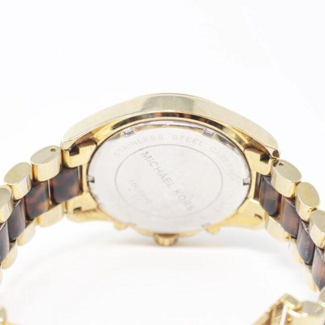 MICHAEL KORS Gold Tortoise Watch 26518 c