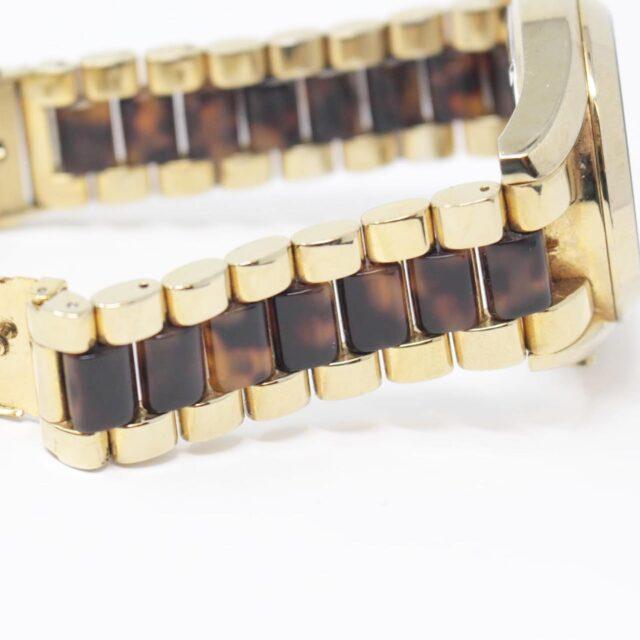MICHAEL KORS Gold Tortoise Watch 26518 d