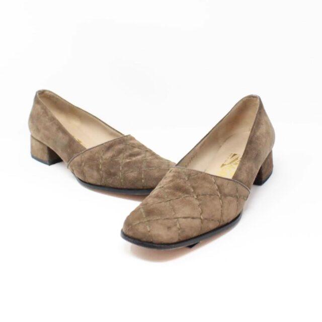 SALVATORE FERRAGAMO Brown Suede Loafers US 8 EU 38 25948 A