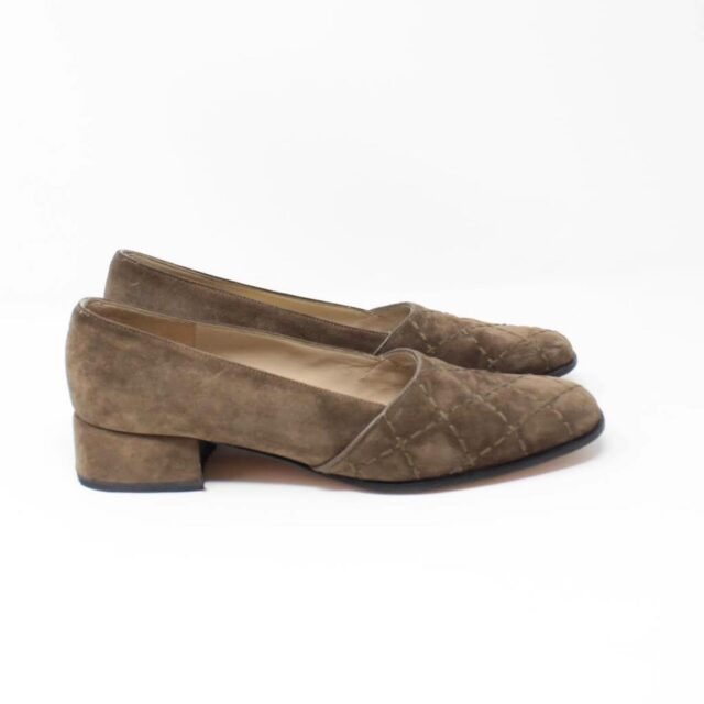 SALVATORE FERRAGAMO Brown Suede Loafers US 8 EU 38 25948 b