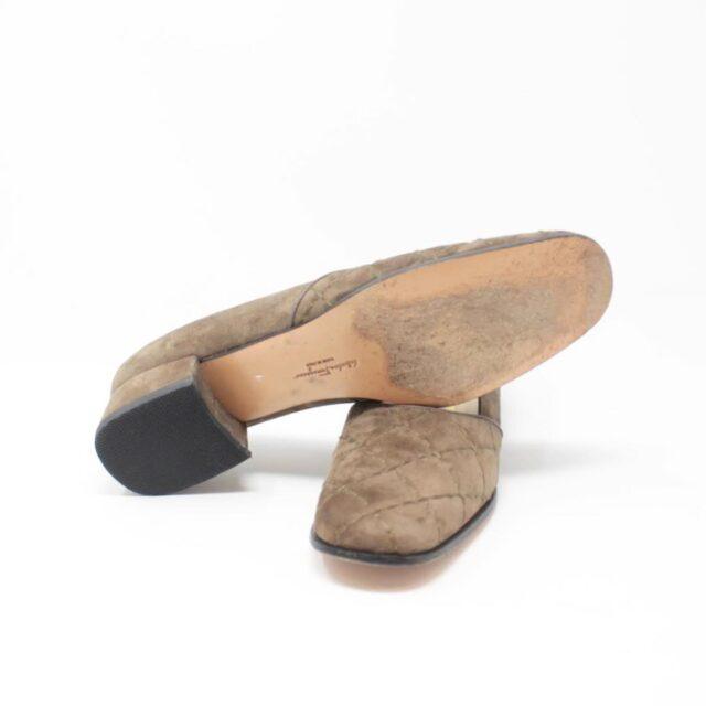 SALVATORE FERRAGAMO Brown Suede Loafers US 8 EU 38 25948 c