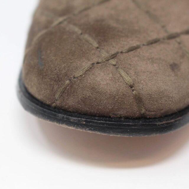 SALVATORE FERRAGAMO Brown Suede Loafers US 8 EU 38 25948 e