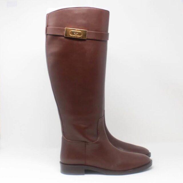TORY BURCH Brown Almond Riding Boots US 6.5 EU 36.5 27286 b