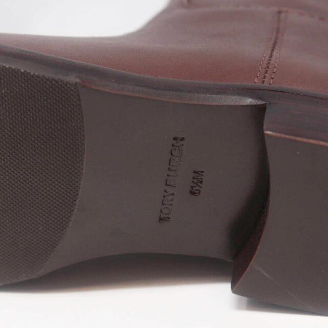 TORY BURCH Brown Almond Riding Boots US 6.5 EU 36.5 27286 g