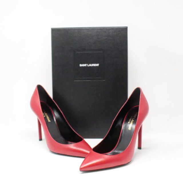 YVES SAINT LAURENT Red Tripon Pumps US 7.5 EU 37.5 26940 A