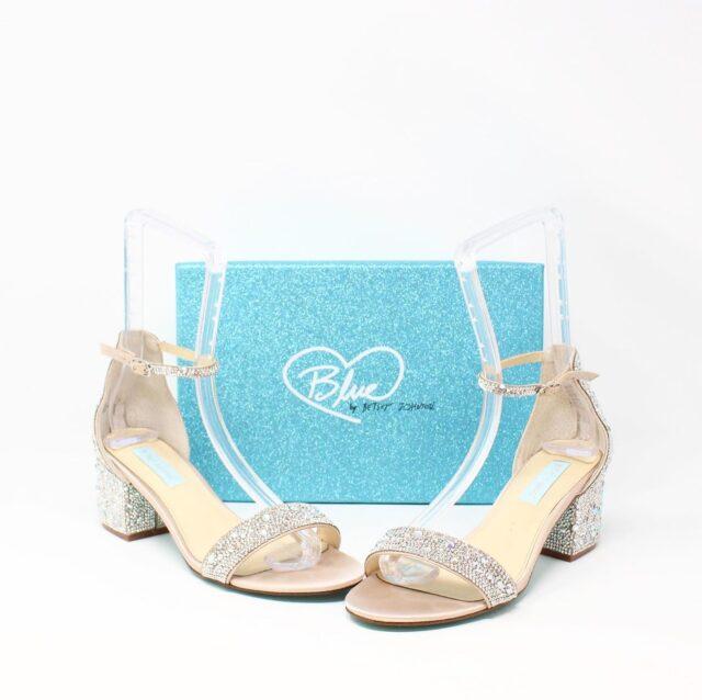 BETSY JOHNSON Nude Crystal Heels US 8.5 EU 38.5 27442 1