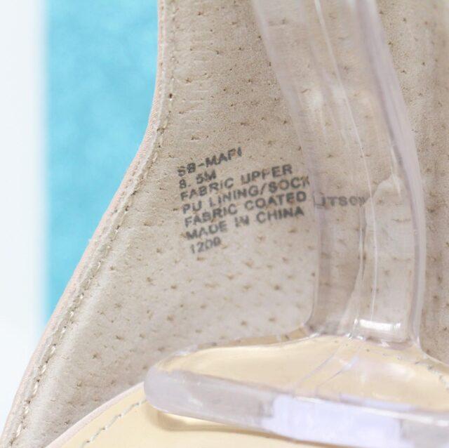 BETSY JOHNSON Nude Crystal Heels US 8.5 EU 38.5 27442 2