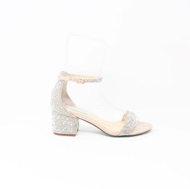 BETSY JOHNSON Nude Crystal Heels US 8.5 EU 38.5 27442 3