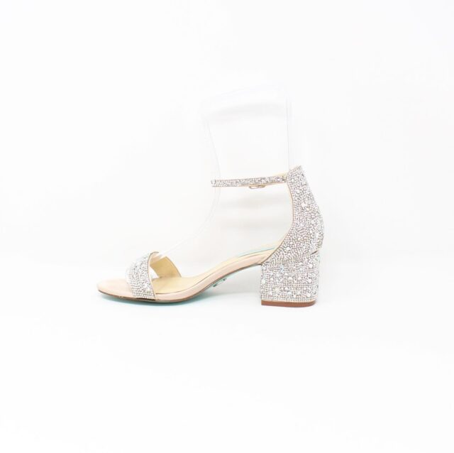 BETSY JOHNSON Nude Crystal Heels US 8.5 EU 38.5 27442 4