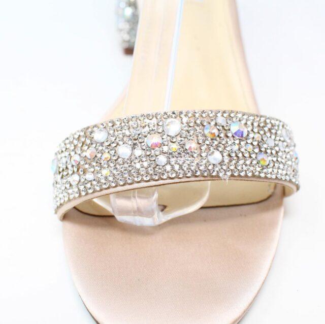 BETSY JOHNSON Nude Crystal Heels US 8.5 EU 38.5 27442 6