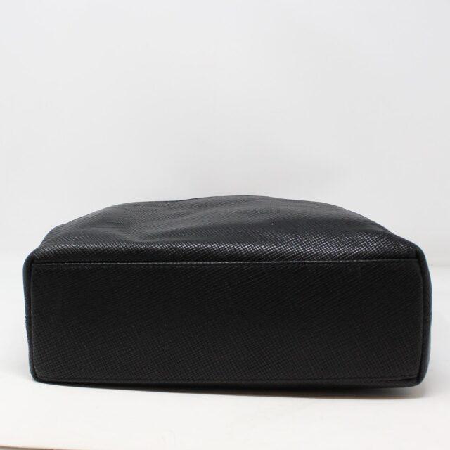 BRIGHTON Black White Leather Handbag 27950 4